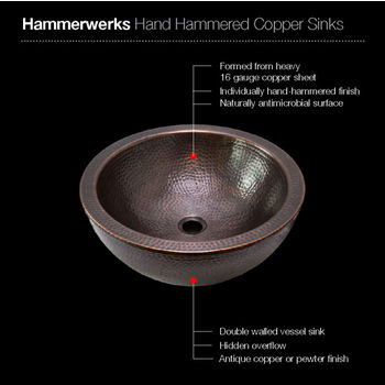 Antique Copper Sink Specifications
