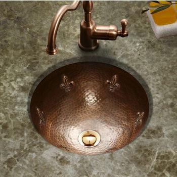 Houzer Hammerwerks Family Crest Lavatory Sink