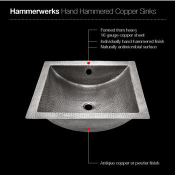 Lustrous Pewter Sink Specifications