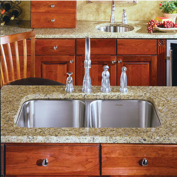 Houzer Medallion Classic Series 50/50 Undermount Double Bowl Sink