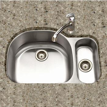 Houzer Medallion Designer Series Undermount Double Bowl Sink