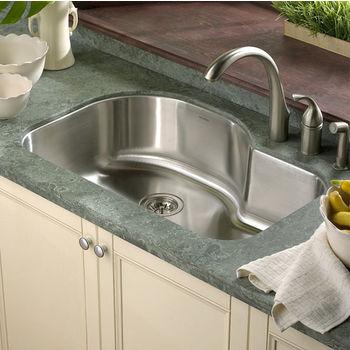 Houzer Medallion Designer Series Offset Single Bowl sink