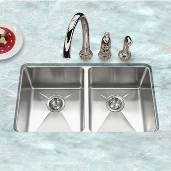 Houzer - Undermount 50/50 Double Bowl Kitchen Sink
