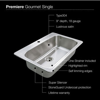 1-Hole Sink Specification