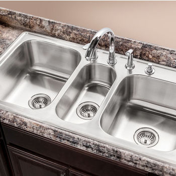 Houzer Premiere Gourmet Series Topmount Triple Bowl Sink Amazing Ideas