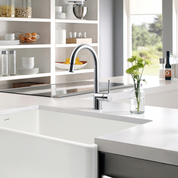 Polished Chrome Sentinel Pull Down Faucet