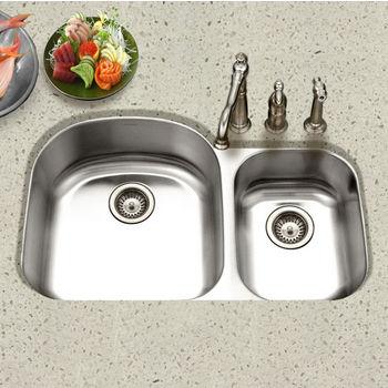 Houzer - Undermount 70/30 Double Bowl Sink