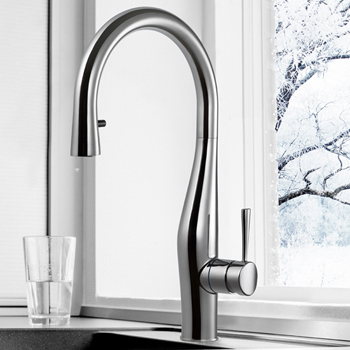 Polished Chrome Vision Pull Down Faucet