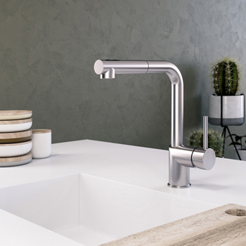 Polished Chrome Vitale Pull Out Faucet