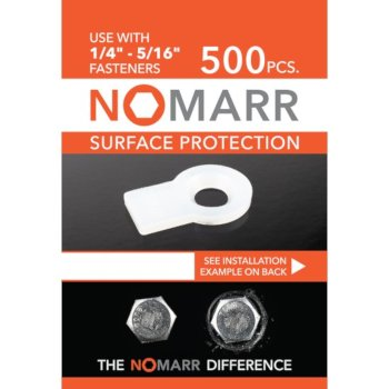 "Federal Brace NoMarr Surface Protectors, Pack of 500 (1/4"") in White, 1-1/4"" W x 3/4"" D x 1/8"" H"