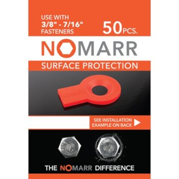 "Federal Brace NoMarr Surface Protectors, Pack of 50 (3/8"") in Red, 1-5/8"" W x 1-1/8"" D x 1/8"" H"