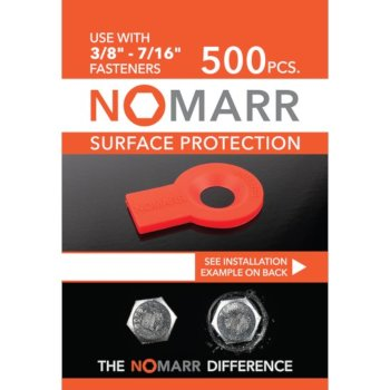 "Federal Brace NoMarr Surface Protectors, Pack of 500 (3/8"") in Red, 1-5/8"" W x 1-1/8"" D x 1/8"" H"