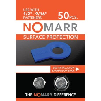 "Federal Brace NoMarr Surface Protectors, Pack of 50 (1/2"") in Blue, 1-7/8"" W x 1-1/2"" D x 1/8"" H"