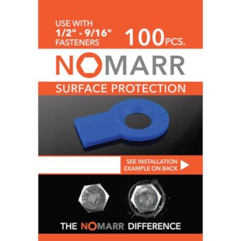 "Federal Brace NoMarr Surface Protectors, Pack of 100 (1/2"") in Blue, 1-7/8"" W x 1-1/2"" D x 1/8"" H"