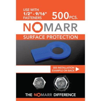 "Federal Brace NoMarr Surface Protectors, Pack of 500 (1/2"") in Blue, 1-7/8"" W x 1-1/2"" D x 1/8"" H"
