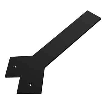 Federal Brace Liberty Hidden Counter Corner Support, Flat Black