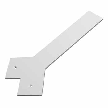 Federal Brace Liberty Hidden Counter Corner Support, Flat White