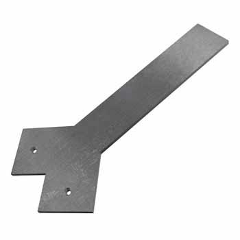 Federal Brace Liberty Hidden Counter Corner Support, Steel
