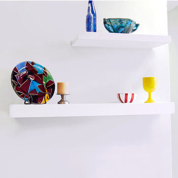 White Finish Shelves