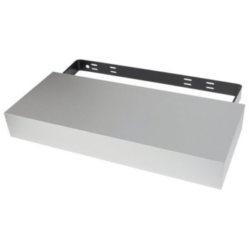 "Federal Brace Floating Shelf Kit in Satin Silver, 24"" W x 10"" D x 3"" H"