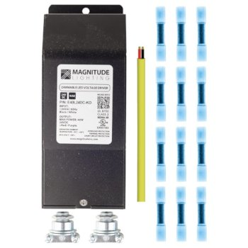 "Federal Brace Eco-Lucent LED Robust Black Installation Kit, 2-11/16"" x 1-1/4"" D x 6-3/4"" H"