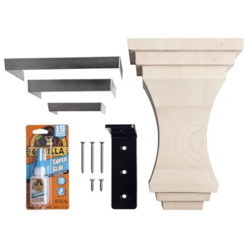 Corbel with Stainless Steel Trim Included Items