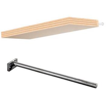 federal brace floating shelf kit with unfinished wood. Black Bedroom Furniture Sets. Home Design Ideas