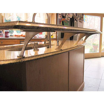 """Federal Brace Foremont Counter Mounted Bracket for Floating Countertop, 6""""-10"""" Height Stainless Steel"""