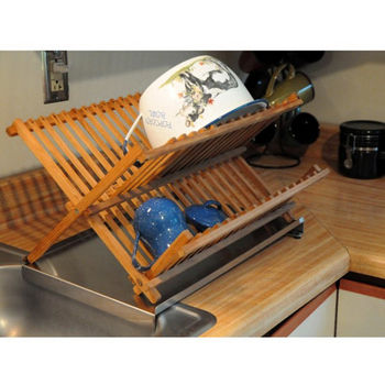 With Dish Drying Rack