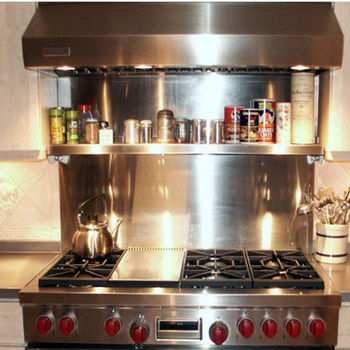 Kitchen Backsplash Vent Hood Wall Backsplash With Universal Cook Top By Stainless Craft Kitchensource Com