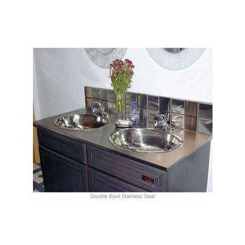 Precious Metal Bathroom Vanity Top By Stainless Craft