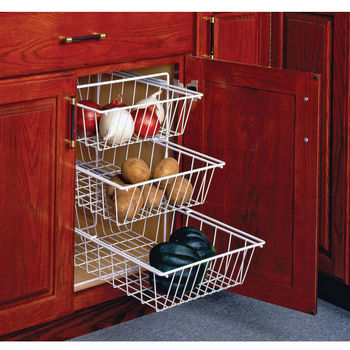 3-Tier Pull-Out Vegetable Baskets for Kitchen Base Cabinet ...