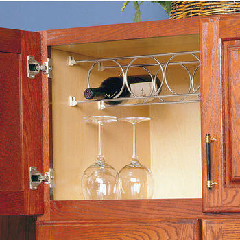 Stemware Amp Wine Racks Mount Underneath Inside Or On