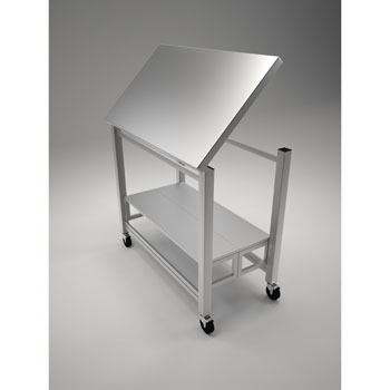 """Oasis 304 Gauge Stainless Steel Flip and Fold Kitchen Island, 42""""W x 24""""D x 36""""H"""
