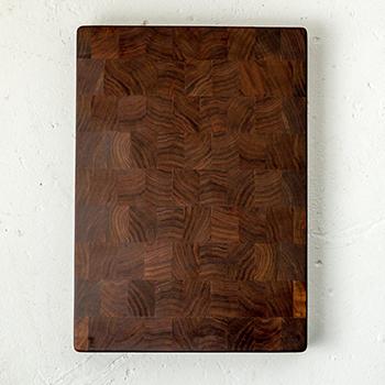 Fjelsted Nord Minnehaha End Grain Cutting Board, 16'' W x 14'' D x 1.5'' H, Walnut
