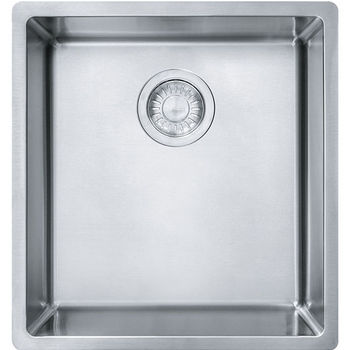 Kitchen sinks stainless steel kitchen sinks and accessories by franke cube single bowl undermount kitchen sink stainless steel 18 gauge 16 12w x 17 34d x 9h workwithnaturefo
