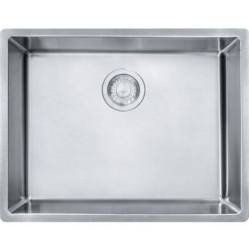 Franke Cube Single Bowl Undermount Kitchen Sink, Stainless Steel, 18 Gauge