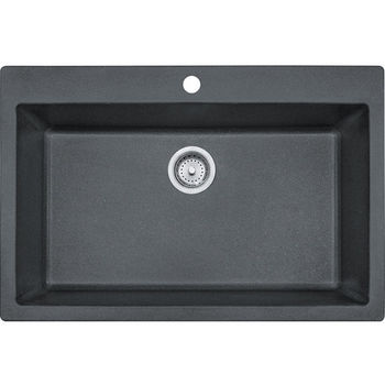 Franke Primo Large Single Bowl Drop In Kitchen Sink, Granite, Graphite