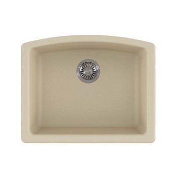Franke Ellipse Single Bowl Undermount Kitchen Sink, Granite, Fragranite Champagne