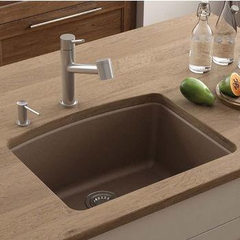 Ellipse Single Bowl Undermount Kitchen Sink Made Of Granite Measuring 25 W X 19 5 8 D By Franke Kitchensource Com
