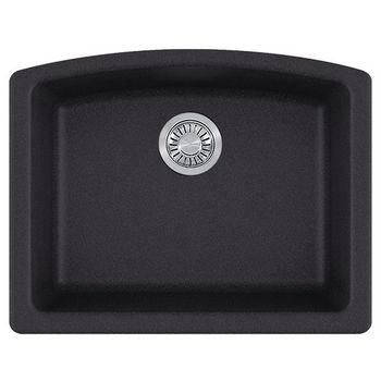 Franke Ellipse Single Bowl Undermount Kitchen Sink, Granite, Fragranite Onyx