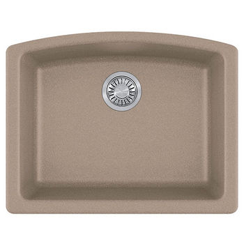 Franke Ellipse Single Bowl Undermount Kitchen Sink, Granite, Fragranite Oyster
