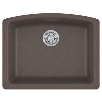 Franke Ellipse Single Bowl Undermount Kitchen Sink, Granite, Fragranite Storm