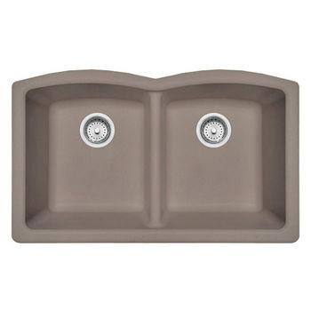 Franke Ellipse Double Bowl Undermount Kitchen Sink, Granite, Fragranite Oyster
