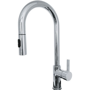 Franke Rigo Pull Down Spray Kitchen Faucet, Polished Chrome