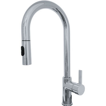 Franke Rigo Pull Down Spray Kitchen Faucet, Satin Nickel