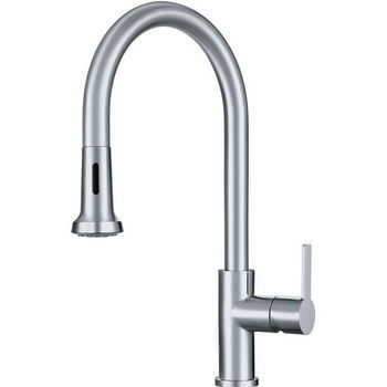 Franke Bernadine Pull Down Spray Kitchen Faucet, Stainless Steel
