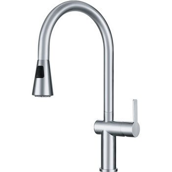 Franke Bern Pull Down Spray Kitchen Faucet, Stainless Steel