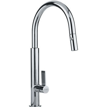 Franke Evos Pull Down Spray Kitchen Faucet, Polished Chrome