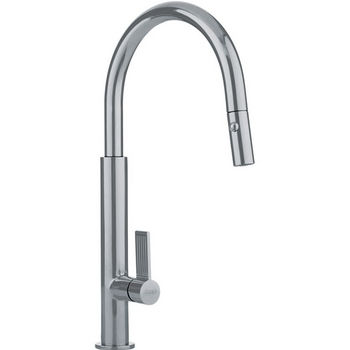 Franke Evos Pull Down Spray Kitchen Faucet, Satin Nickel